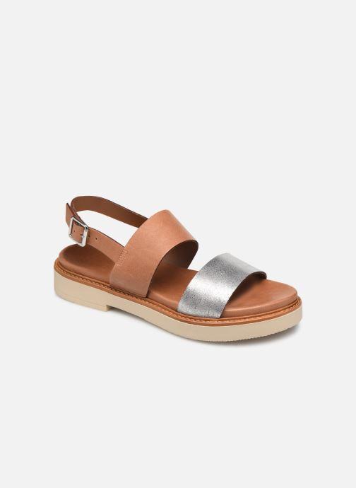 Sandales et nu-pieds Pataugas Line C Marron vue détail/paire