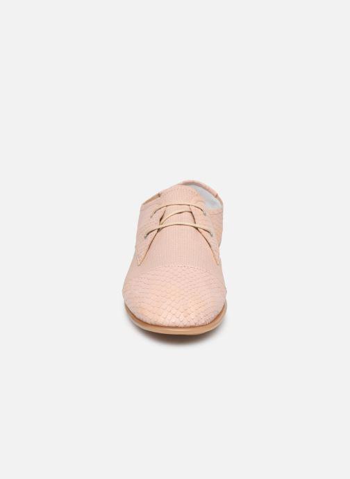 Chaussures à lacets Pataugas Swing/Mix C Rose vue portées chaussures