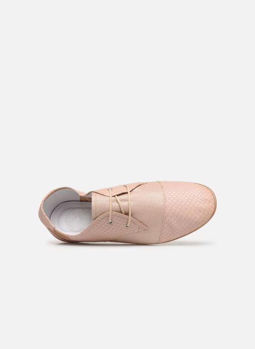 Chaussures à lacets Pataugas Swing/Mix C Rose vue gauche