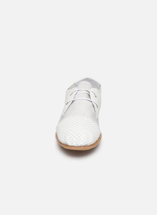 Chaussures à lacets Pataugas Swing/Mix C Blanc vue portées chaussures