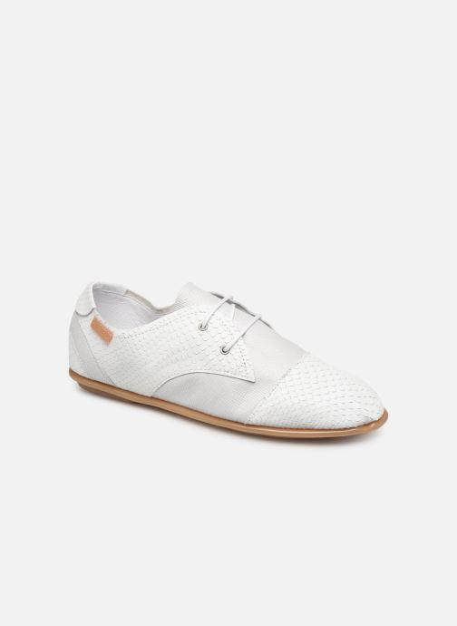 Chaussures à lacets Pataugas Swing/Mix C Blanc vue détail/paire