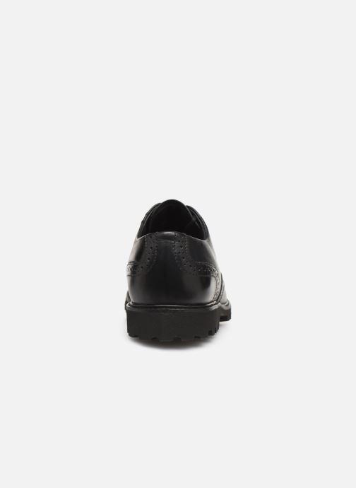 Snörade skor Sledgers Denver C Svart Bild från höger sidan