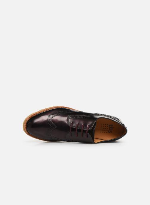 Chaussures à lacets TBS Arysonn Bordeaux vue gauche