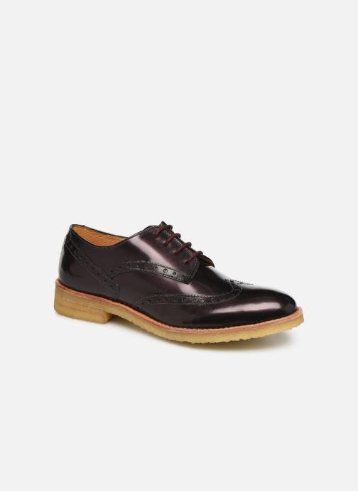 Snøresko TBS Arysonn Bordeaux detaljeret billede af skoene