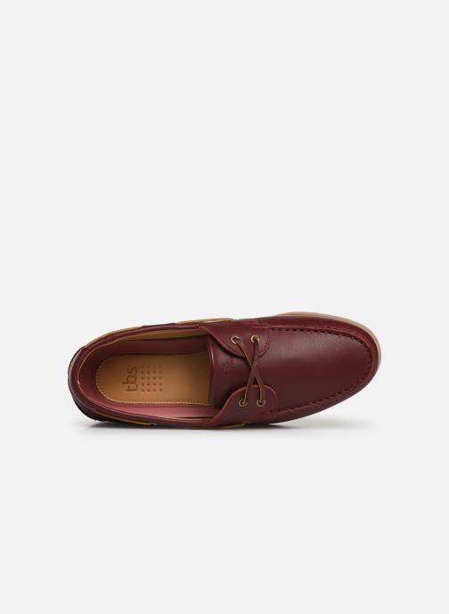 Chaussures à lacets TBS Clipper Bordeaux vue gauche