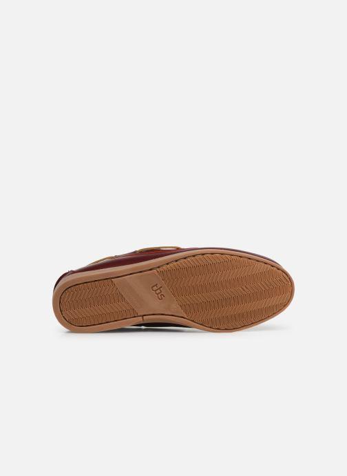 Chaussures à lacets TBS Clipper Bordeaux vue haut