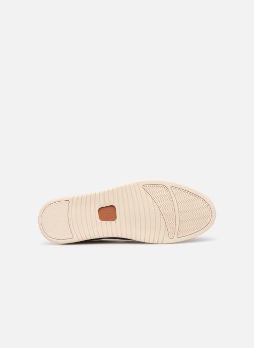 Baskets Clae Ellington Leather Marron vue haut