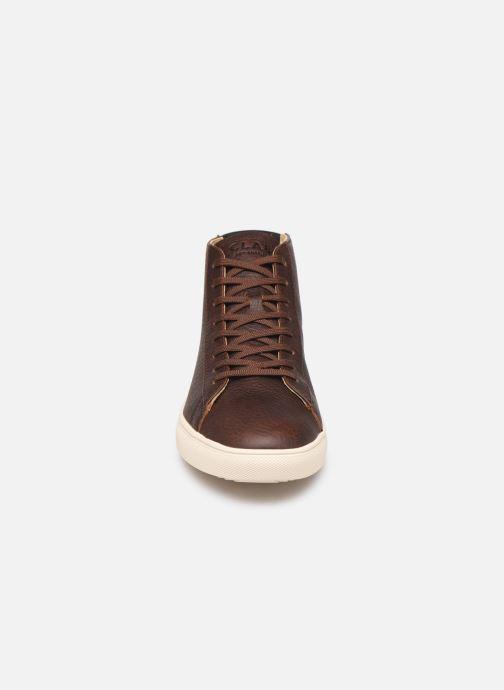 Baskets Clae Bradley Mid Marron vue portées chaussures