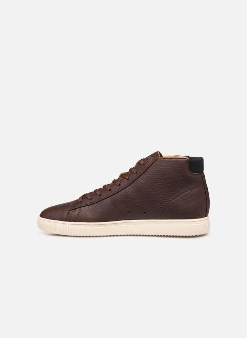 Sneakers Clae Bradley Mid Bruin voorkant