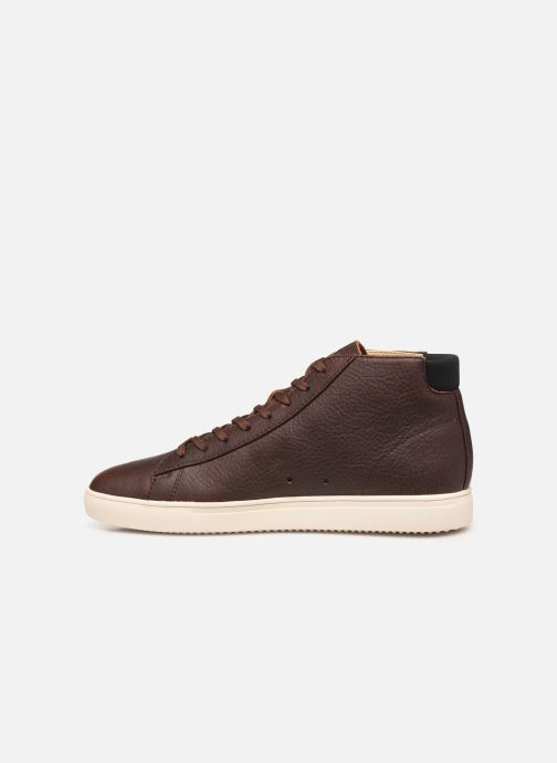 Baskets Clae Bradley Mid Marron vue face