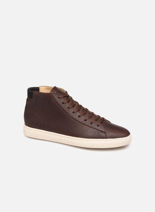 Sneakers Clae Bradley Mid Bruin detail
