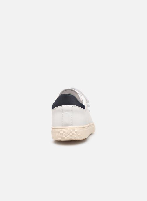 Baskets Clae Bradley Velcro Blanc vue droite