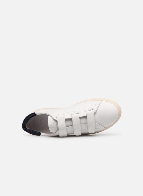 Baskets Clae Bradley Velcro Blanc vue gauche