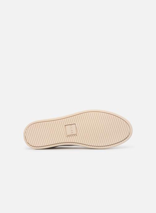 Baskets Clae Bradley Velcro Blanc vue haut
