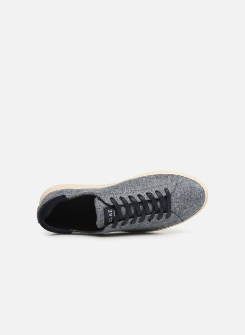 Baskets Clae Bradley Textile Bleu vue gauche