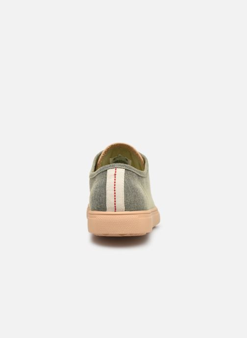 Trainers Clae Herbie Textile Green view from the right