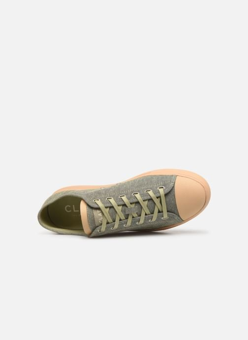 Trainers Clae Herbie Textile Green view from the left