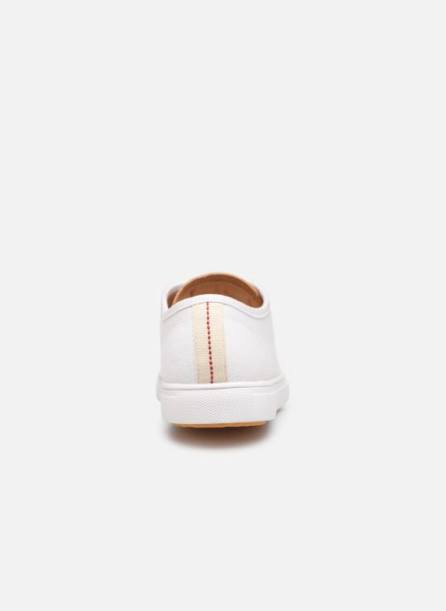 Baskets Clae Herbie Textile Blanc vue droite