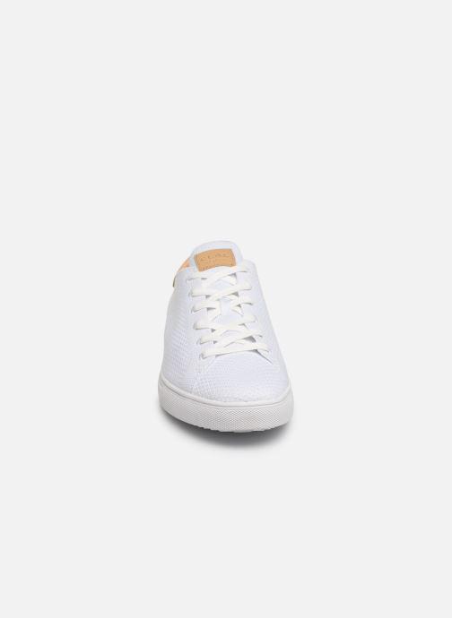 Baskets Clae Bradley Knit Blanc vue portées chaussures