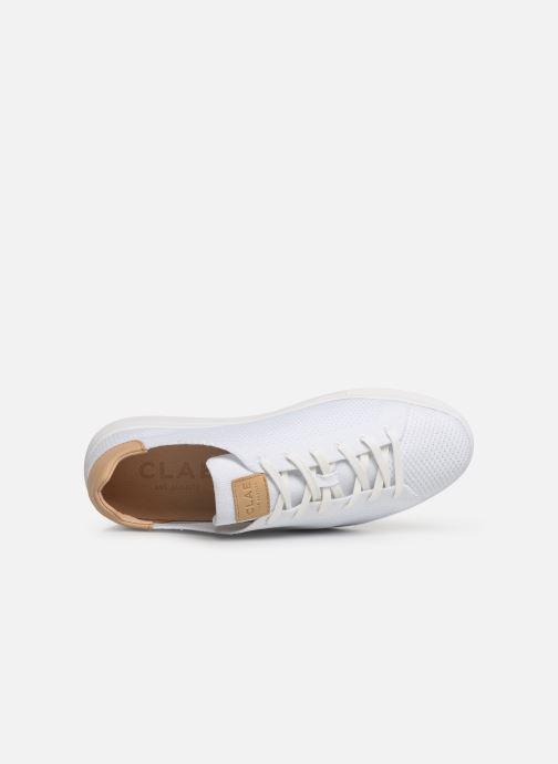 Sneaker Clae Bradley Knit weiß ansicht von links