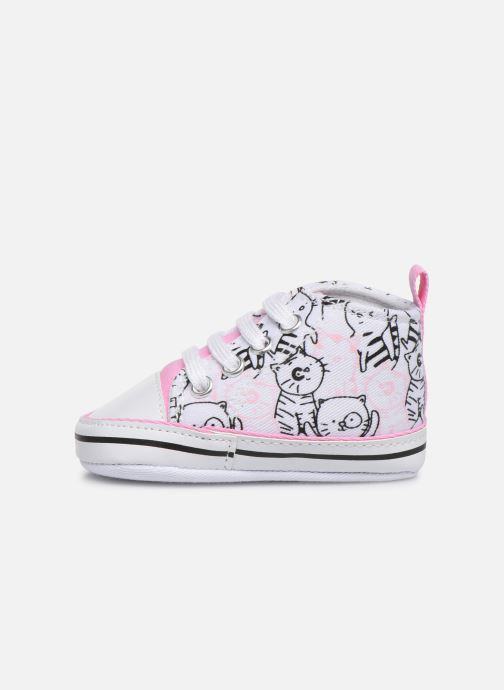 Trainers I Love Shoes Basket lacets chat Multicolor front view
