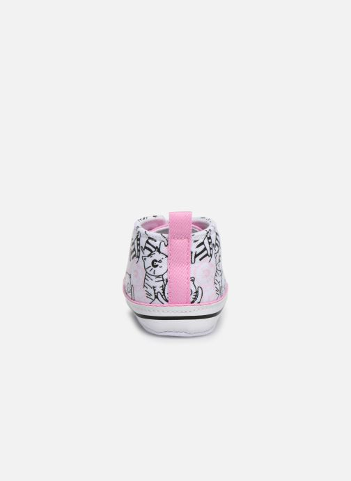 Trainers I Love Shoes Basket lacets chat Multicolor view from the right