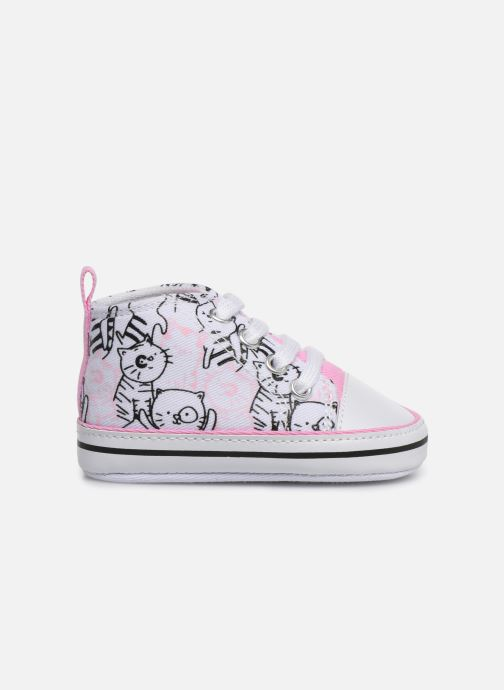 Trainers I Love Shoes Basket lacets chat Multicolor back view