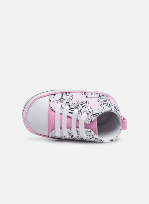 Trainers I Love Shoes Basket lacets chat Multicolor view from the left