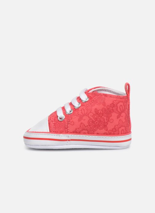 Baskets I Love Shoes Basket lacets fleur Rouge vue face