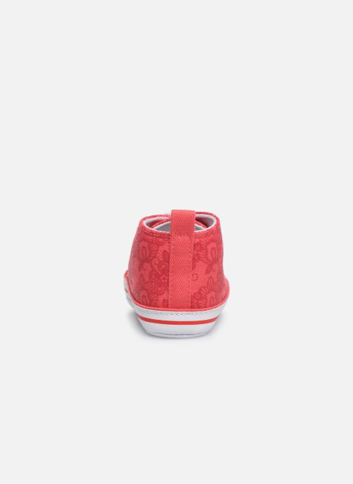 Baskets I Love Shoes Basket lacets fleur Rouge vue droite