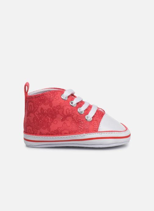 Baskets I Love Shoes Basket lacets fleur Rouge vue derrière