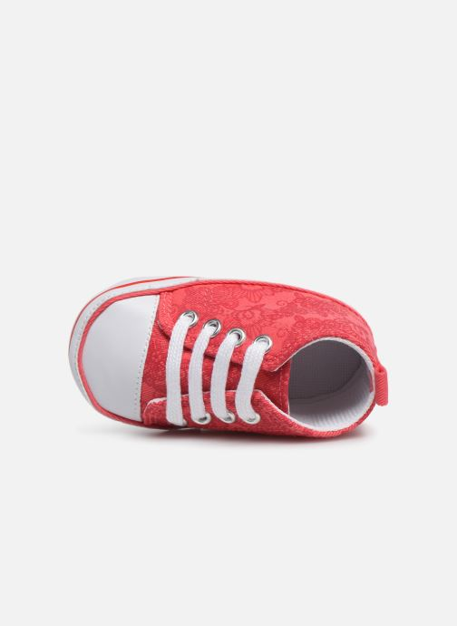Baskets I Love Shoes Basket lacets fleur Rouge vue gauche