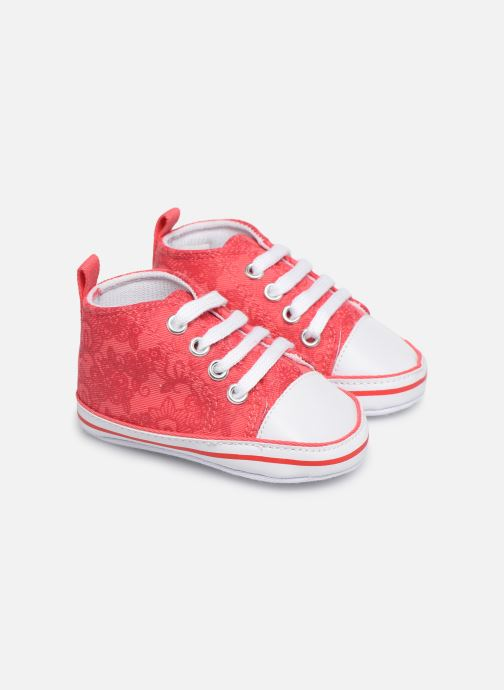 Baskets I Love Shoes Basket lacets fleur Rouge vue détail/paire