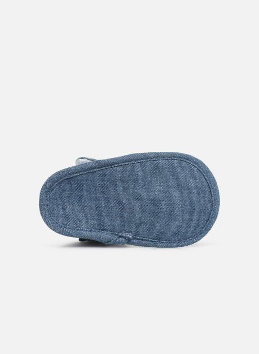 Sandales et nu-pieds I Love Shoes Sandale bébé scratch Bleu vue haut