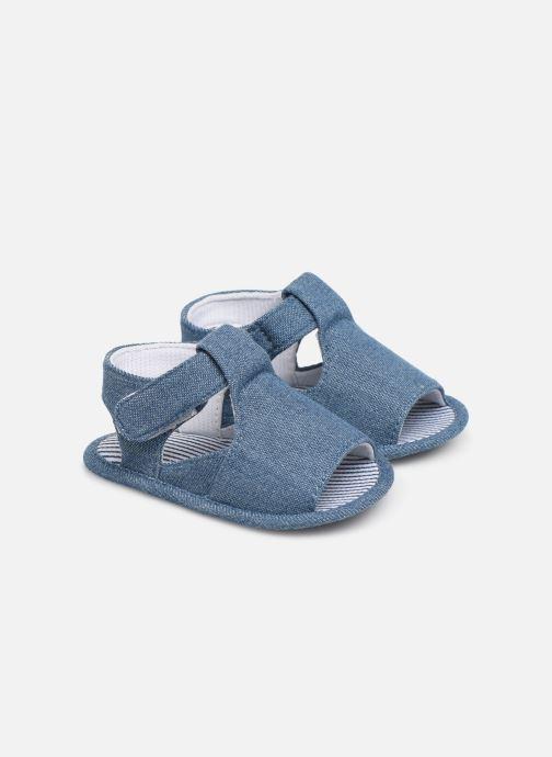 Sandales et nu-pieds I Love Shoes Sandale bébé scratch Bleu vue détail/paire