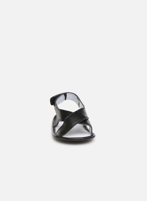 Sandales et nu-pieds I Love Shoes Sandale bébé croisé Noir vue portées chaussures