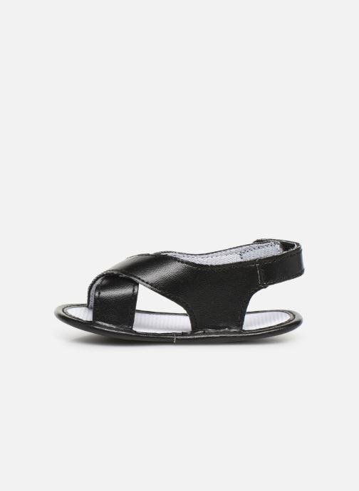 Sandales et nu-pieds I Love Shoes Sandale bébé croisé Noir vue face