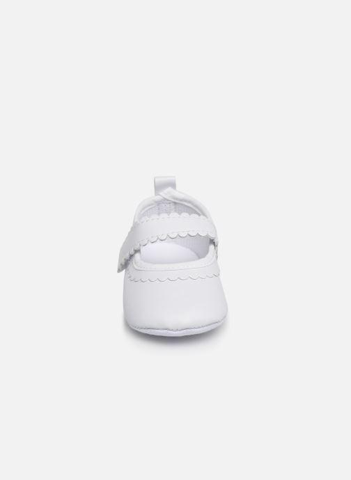 Ballet pumps I Love Shoes Chaussures céremonie bride White model view