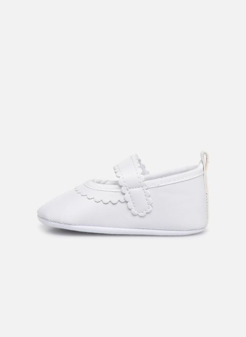 Ballerines I Love Shoes Chaussures céremonie bride Blanc vue face