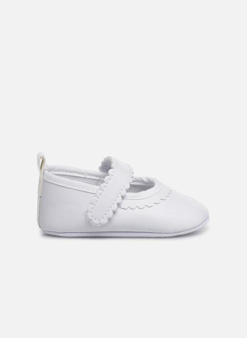 Ballet pumps I Love Shoes Chaussures céremonie bride White back view