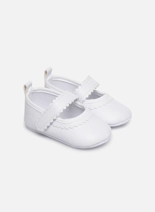 Ballerines I Love Shoes Chaussures céremonie bride Blanc vue détail/paire