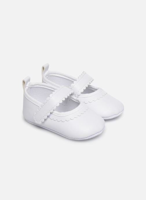 Ballet pumps I Love Shoes Chaussures céremonie bride White detailed view/ Pair view
