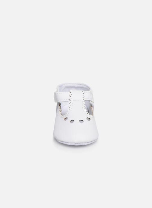 Ballet pumps I Love Shoes Chaussures céremonie cœur White model view