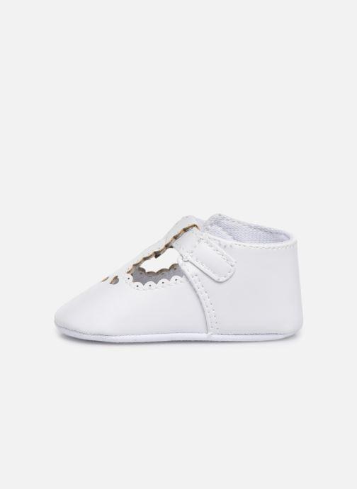 Ballet pumps I Love Shoes Chaussures céremonie cœur White front view