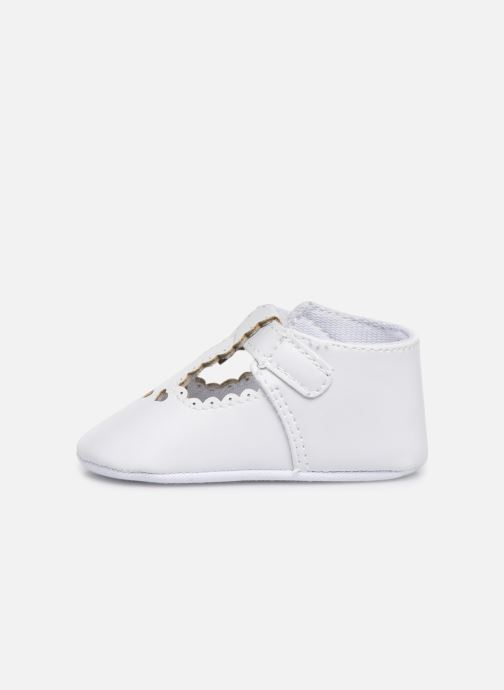 Ballet pumps I Love Shoes Chaussures céremonie cœur White front view
