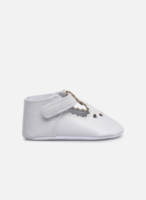 Ballet pumps I Love Shoes Chaussures céremonie cœur White back view