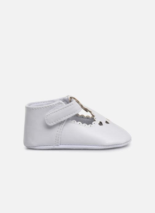 Ballet pumps I Love Shoes Chaussures céremonie cœur White back view