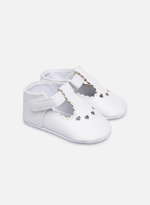 Ballet pumps I Love Shoes Chaussures céremonie cœur White detailed view/ Pair view