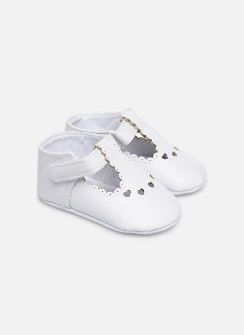 Ballet pumps I Love Shoes Chaussures céremonie cœur White detailed view/ Pair view