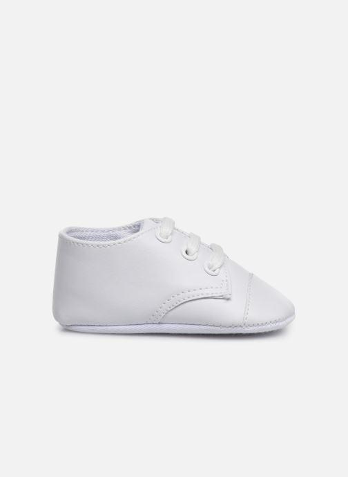 Baskets I Love Shoes chaussures céremonie lacets Blanc vue derrière
